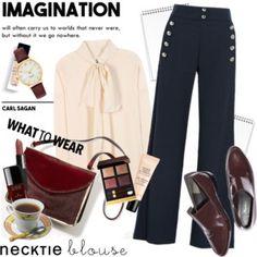 Fall Trend: Necktie Blouse