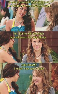 """And then you'll be watching The Lily Bloom""- (Emily Osment) Lily on Hannah Montana"