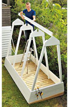 Back Gardens, Outdoor Gardens, Garden Screening, Potager Garden, Fairy Furniture, Cold Frame, Garden Show, Beginner Woodworking Projects, Urban Farming