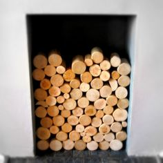 Decorative Logs Display for Feature Fireplaces & by thelogbasket, Logs In Fireplace, Empty Fireplace Ideas, Unused Fireplace, Fireplace Inserts, Fireplaces, Victorian Terrace House, Fire Surround, Wood Logs, Interior Decorating