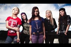 a all new girl band named conquer divide there screams are amazing this is the first hardocre bad i know of thats all girls and i like that i dont know when a album will be out or if they already have one.go check out there song eyes wide shut <<< they sound cool plus they're wearing SS & SWS shirts!:p