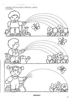 Archivo de álbumes Tracing Worksheets, Preschool Worksheets, Preschool Activities, Pre Writing, Writing Skills, Writing Practice, Preschool Writing, Motor Activities, Colouring Pages
