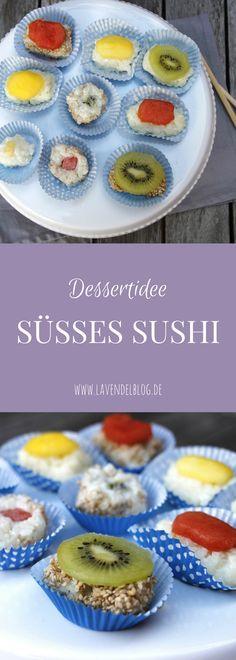 Eine kreative Dessert Idee ist süßes Sushi. Zum Sushi selber machen braucht ihr Milchreis, frisches Obst und ein bisschen Fingerspitzengefühl. Das Sushi Rezept eignet sich gut für eine Fingerfood Party.