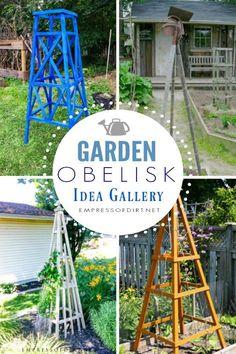 12 Creative Garden Obelisk Ideas