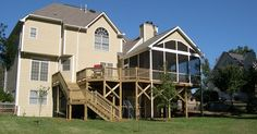 Image result for two floor screened deck designs