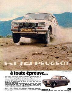 Publicité Peugeot - 1971 - Peugeot 504 - automobile -