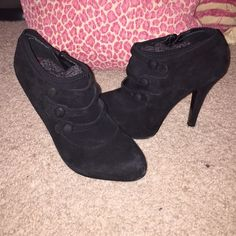 Jessica Simpson Booties Black Suede Jessica Simpson High Heel Booties. Size 8. Jessica Simpson Shoes Ankle Boots & Booties