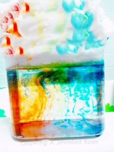 Use shaving cream, water, and food coloring to teach how rain clouds form. | 24 Kids' Science Experiments That Adults Can Enjoy, Too