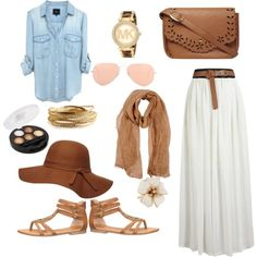 Many Shades Of Brown by savannahs-outfits on Polyvore featuring polyvore fashion style maurices Dorothy Perkins YooLa Michael Kors Ray-Ban Mauro Grifoni