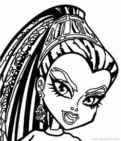 Monster High Logo coloring page | ☌ Pin © Copy ℗ Print | Pinterest ...