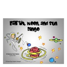 This printable Earth, moon, + sun bingo game includes 16 vocabulary words that match most states' science standards. Students write the vocabulary words in random order on their bingo form. Clue cards with definitions are included along with complete intstructions. Great for review before assessment.