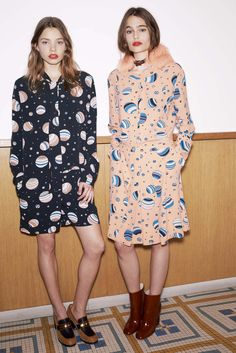 Beach balls or planets??... either way, love the print!!  Chloé | Fall 2014 Ready-to-Wear Collection.