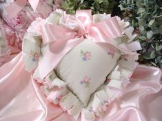 Gorgeous Shabby Cottage Chic Rag Quilt Heart Wouldd be cute upsized for a throw cushion