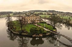 unusual wedding venue - Waterton Park Hotel – West Yorkshire (surrounded by a lake) Unusual Wedding Venues, Rustic Wedding Venues, Intimate Weddings, Unique Weddings, Screen On The Green, Hotel Wedding, Wedding Day, Waterton Park, Wild Animal Park