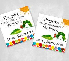 DIY Very Hungry Caterpillar Favor Tags (DIGITAL FILE). $5.00, via Etsy.