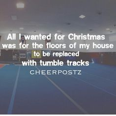 And maybe put some giant mirrors on the wall too and a giant bow chandelier. Cheer Jumps, Cheer Stunts, Cheer Dance, Gymnastics Tricks, Olympic Gymnastics, Olympic Games, Cheerleading Quotes, Cheer Quotes, All Star Cheer