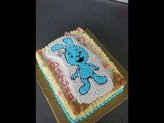 """украшаем торт кремом.Детский торт """"kikaninchen"""""""