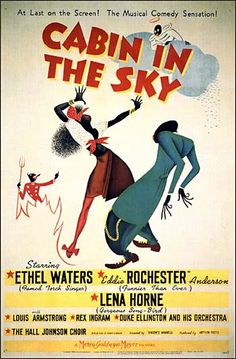 """Cabin in the Sky by Black History Album, via Flickr Looks like the artist was Al Hirschfeld-one of my favorites! (count the """"Nina's"""")"""