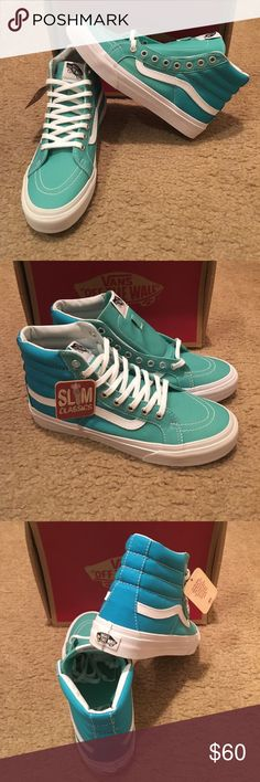 Ombré SK8HI Slim Vans New in box. Bermuda/Hawaiian Ocean Vans Shoes Sneakers