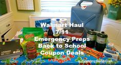 Walmart Haul - Emergency Preps, Back to School and Coupon Deals