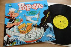 POPEYE the sailor man 4 Exciting Stories orig. US LP Peter Pan 8097