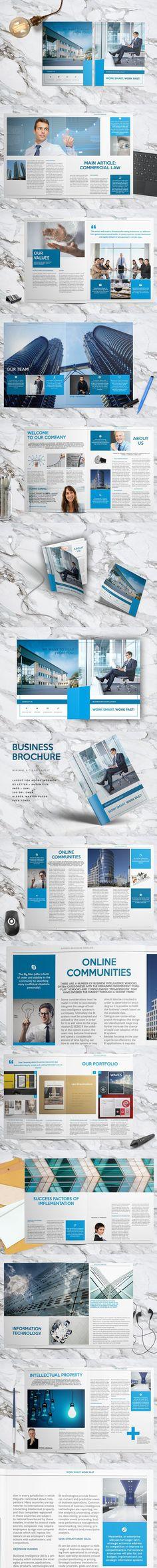 Business Brochure Layout . Brochure Templates