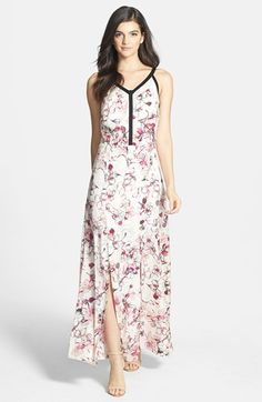 Chelsea28 Floral Print Maxi Dress available at #Nordstrom