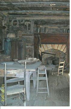 Inside Arnwine Cabin - Left View
