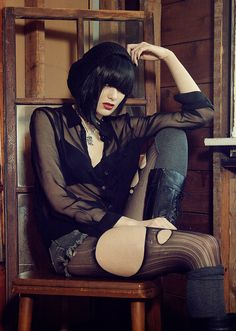 Siouxsie Radcliffe, Model.  Grunge II by kathrynstabile, via Flickr #beauty #photography