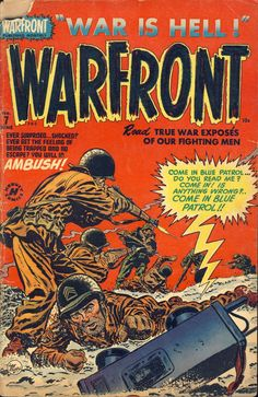 Comic Book Cover For Warfront #7