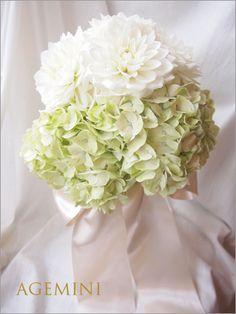 アジサイとダリアのウェディングブーケ Wedding bouquet - AGEMINI