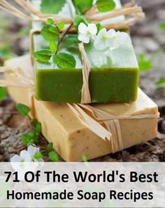 71 Of The World's Best Homemade Soap Recipes. Want to try making your own soaps? Here are 71 of the world's best recipes all in one convenient place! Share this with your soap making friends so they can check it out! Diy Savon, Homemade Soap Recipes, Homemade Soap Bars, Soap Making Recipes, Homemade Candles, Easy Recipes, Homemade Beauty Products, Beauty Recipe, Handmade Soaps