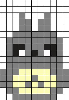 2 pixal art Small Totoro Perler Bead Pattern / Bead Sprite Spa Supply: Helping You Unwind At Home We Perler Bead Designs, Perler Bead Templates, Hama Beads Design, Diy Perler Beads, Perler Bead Art, Pearler Beads, Melt Beads Patterns, Kandi Patterns, Pearler Bead Patterns
