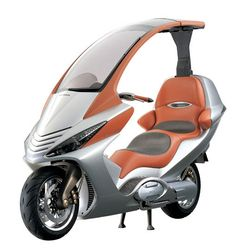 Honda's 750 scooter concept with CVT and electric roof
