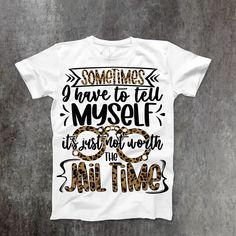 Jail Time T-Shirt - XL / White