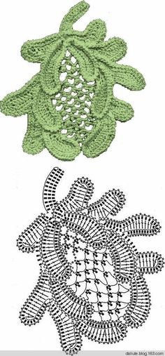.irish crochet motif Shawl Crochet, Crochet Leaves, Crochet Motifs, Freeform Crochet, Crochet Chart, Crochet Flowers, Crochet Stitches, Knit Crochet, Irish Crochet Patterns