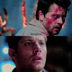 Meet the New Boss] and he only said sorry to Dean omg ⠀ [ This kills me inside. Supernatural Fanfiction, Supernatural Seasons, Supernatural Fandom, Misha Collins, Dean And Castiel, Demon Dean, Jensen Ackles, Misha Gabriel, Fantastic Show