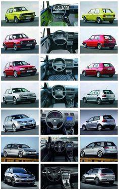 VW Golf.  Generations 1 through 7.