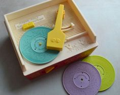 Vintage Fisher Price Sesame Street Music Box Record by ivorybird