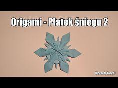 Origami - Płatek śniegu 2 - YouTube