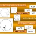 First step to finding the Area of Regular Polygon is to find the length of the apothem.  Matching Activity: Finding the Length of the Apothem  This...