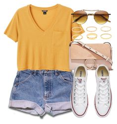 """""""Sin título #13240"""" by vany-alvarado ❤ liked on Polyvore featuring Monki, Chloé and Converse"""