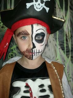 Pirate skeleton face paint had a skeleton pirate party