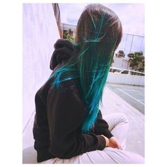 atomic turquoise ombre