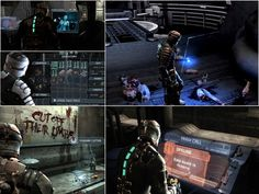 Dead Space - The UI is completely diegetic. All the interfaces are in the game world, instead of pasted on screen. (See Far Cry 3 in the Game UI board. Ea Dice, Game Google, Dead Space, Game Ui, User Interface, Ui Design, Discovery, Video Games, Darth Vader