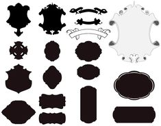 Vector based cartouches and scrolls, free to be used mangled and modified. If you do use any of these, send me a message so I can see what you've done! Many Cartouches Free Vector Graphics, Free Vector Art, Free Vector Images, Graphic Design Projects, Graphic Design Inspiration, Silhouette Clip Art, Free Photoshop, Art Images, Design Elements