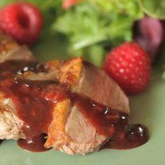 Magret canard sauce framboise (délicieux et simplissime )