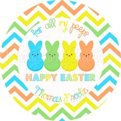 PEEPS favor tags boy  YOU PRINT  3 or 2 by PrettyPartyCreations, $6.25