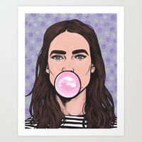 Art Print featuring Bubble by Turddemon