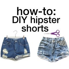 DIY highwaisted shorts- Rips: try shorts on, mark where you want them, use a retractable box cutter, cut horizontal lines, run your shorts through the washer and dryer to give a worn in, frayed look. Studs: buy them at a fabric store. Lace: sew pieces of lace underneath rips    YESSSSSSSSSSSS <3